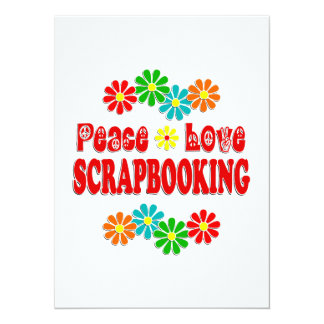 Amor Scrapbooking de la paz Invitacion Personalizada