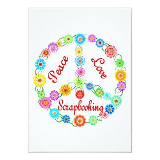 Amor Scrapbooking de la paz Invitación