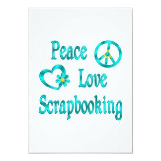 Amor Scrapbooking de la paz Invitaciones Personalizada