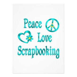 Amor Scrapbooking de la paz Anuncio Personalizado