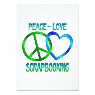 Amor SCRAPBOOKING de la paz Invitación 12,7 X 17,8 Cm