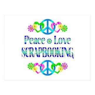 Amor Scrapbooking de la paz Postal