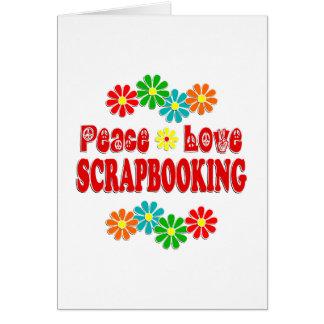 Amor Scrapbooking de la paz Felicitacion