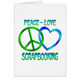 Amor SCRAPBOOKING de la paz Tarjeta