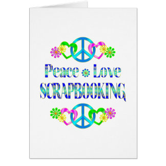 Amor Scrapbooking de la paz Tarjeton