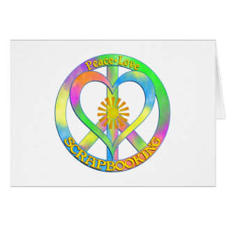 Amor Scrapbooking de la paz Tarjeta De Felicitación