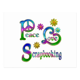 Amor Scrapbooking de la paz Tarjeta Postal
