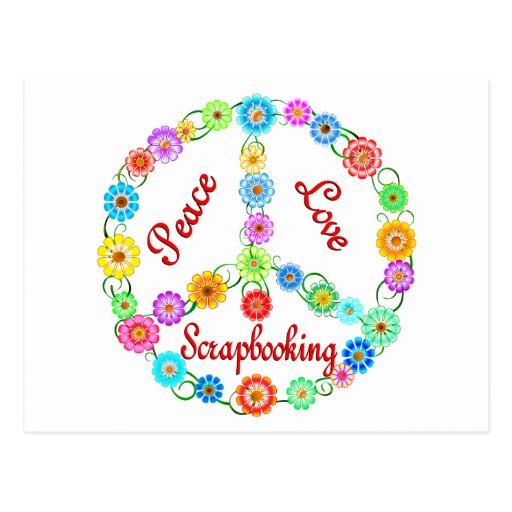 Amor Scrapbooking de la paz Tarjetas Postales