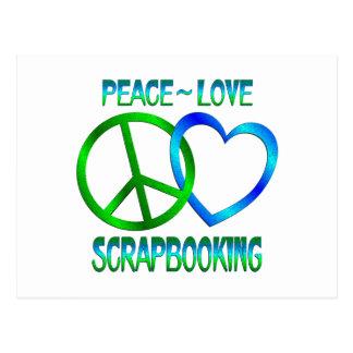 Amor SCRAPBOOKING de la paz Postales