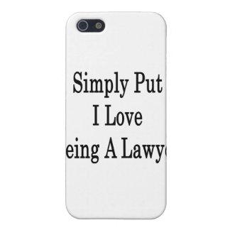 Amor simplemente puesto de I que es un abogado iPhone 5 Cárcasas