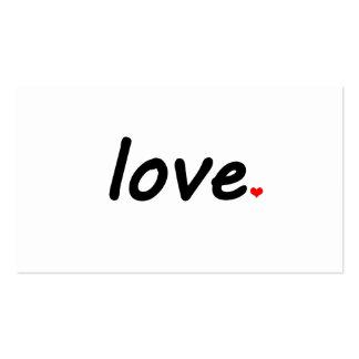 Amor Tarjetas De Negocios