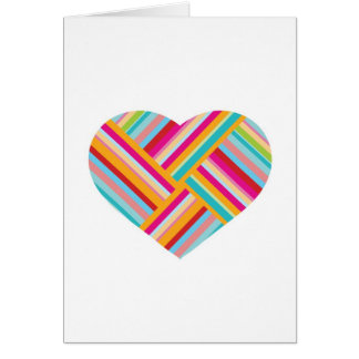 Amor temático, tarjeta de felicitaciones del coraz