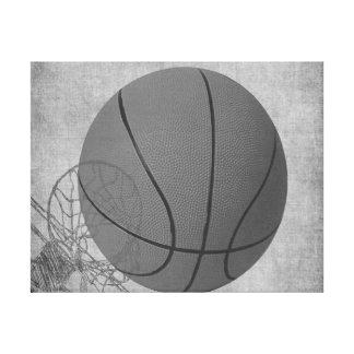 Amor The Game de la bola de la cesta en blanco y n Impresion En Lona