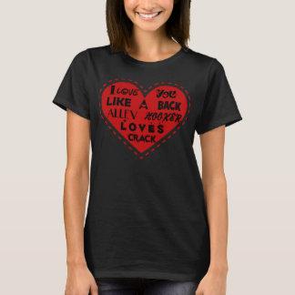 Amor trasero del callejón camiseta