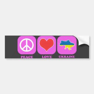 Amor Ucrania de la paz Pegatina Para Coche