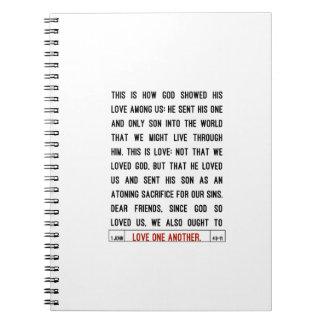 Amor una otra escritura libreta espiral