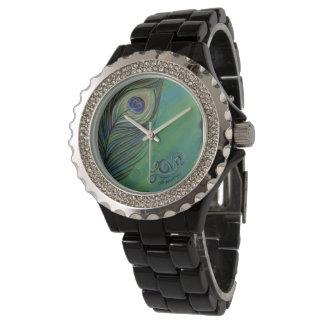 Amor uno otro del pavo real reloj