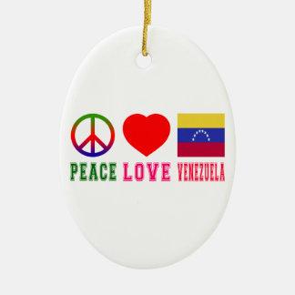 Amor Venezuela de la paz Adorno De Navidad