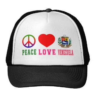 Amor Venezuela de la paz Gorros Bordados