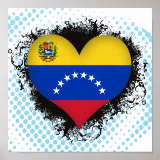 Amor Venezuela del vintage I Póster
