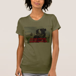 Amor verdadero americano de Terrier de pitbull Camiseta