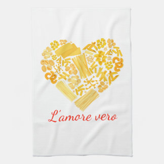 Amor verdadero - toalla de cocina italiana de las