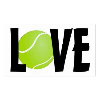 AMOR verde de la pelota de tenis Tarjetas De Visita