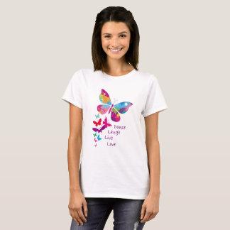 Amor vivo de la risa de la danza - la camiseta de