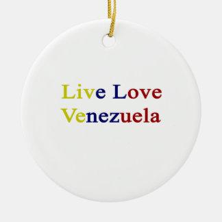 Amor vivo Venezuela Ornamento Para Arbol De Navidad