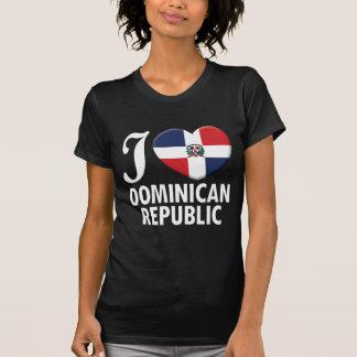 Amor W de la República Dominicana Camisetas