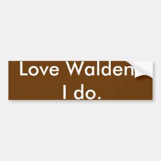 ¿Amor Walden? Hago Pegatina Para Coche