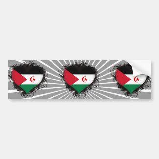 Amor Western Sahara del vintage I Pegatina De Parachoque