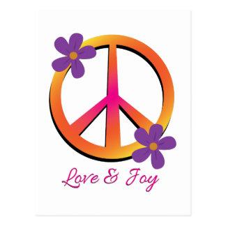 Amor y alegría postal