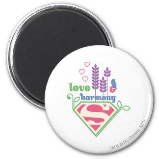 Amor y armonía de Supergirl Imán Redondo 5 Cm