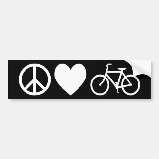 Amor y bicicletas de la paz pegatina para coche