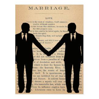 Amor y boda Longfellow que se casa gay del vintage Postal
