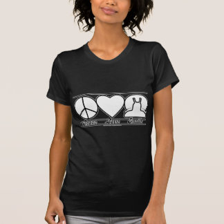 Amor y caracoles de la paz camiseta