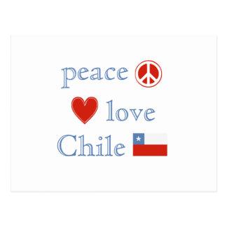Amor y Chile de la paz Postal