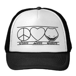 Amor y cocodrilos de la paz gorros bordados