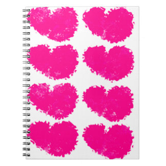 Amor y corazones cuadernos