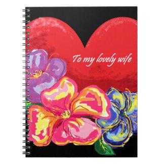 Amor y flores cuadernos