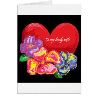 Amor y flores tarjeta de felicitación