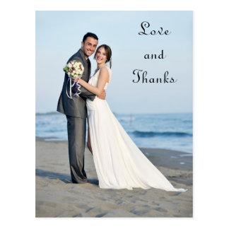 Amor y gracias - postal de la foto del boda