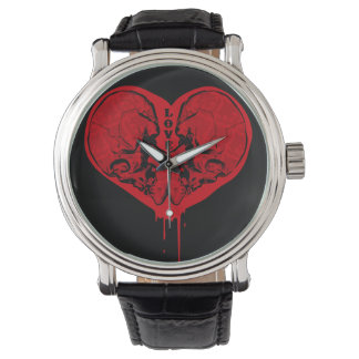 Amor y muerte reloj de pulsera