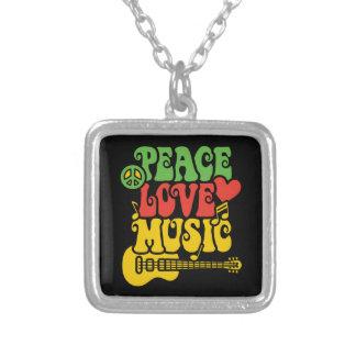 Amor y música de la paz de Rasta Colgante Personalizado