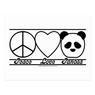 Amor y pandas de la paz postal