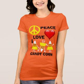 Amor y pastillas de caramelo de la paz de camisetas