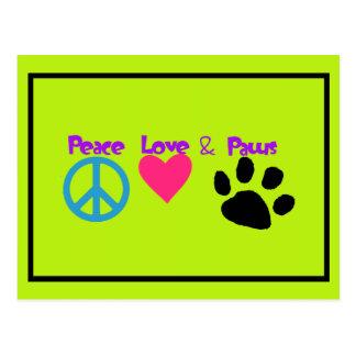 Amor y patas de la paz postal