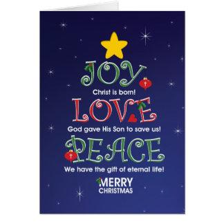 Amor y paz adaptables de la alegría de tarjeta de felicitación