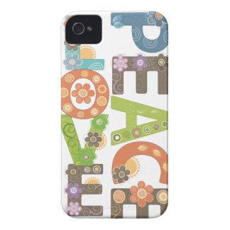 Amor y paz Case-Mate iPhone 4 cobertura